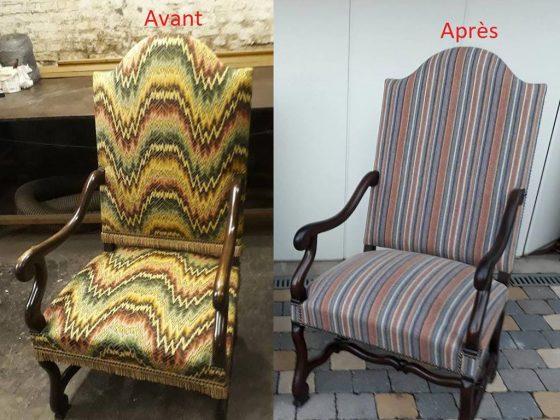 fauteuil avant après